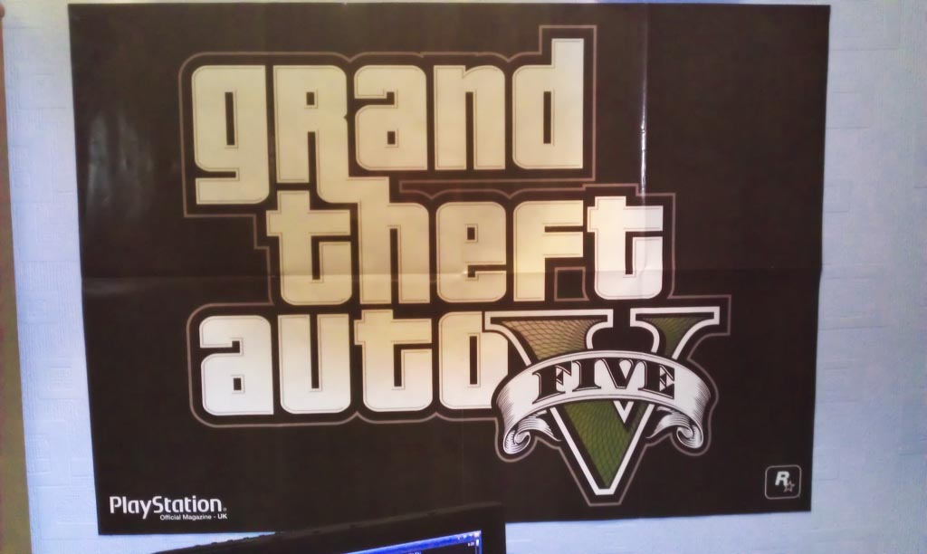 poster GTA 5 official playstation magazine - GTA5france.com