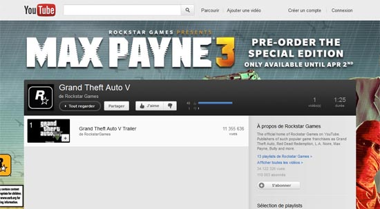 playlist gta v sur youtube - GTA5france.com