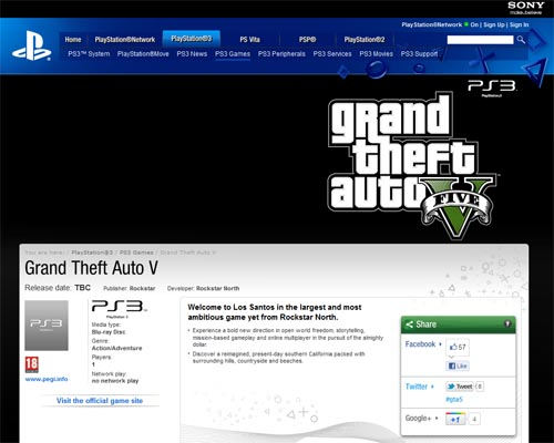 gta 5 sortira sur ps3 - GTA5france.com