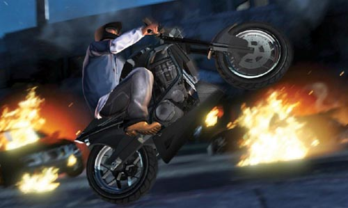 wheeling moto gta 5 - GTA5france.com