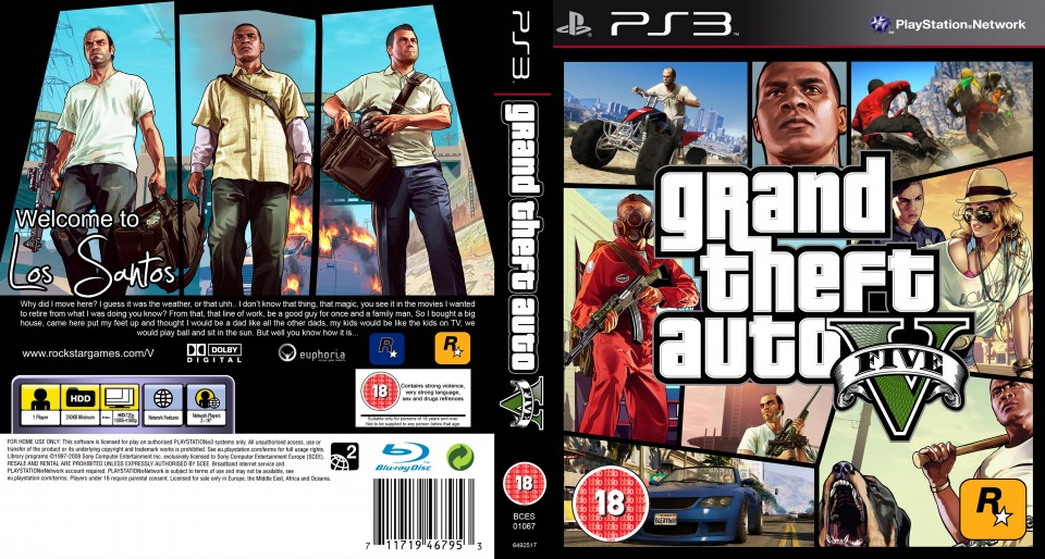 gta5 sur ps3 box art - GTA5france.com